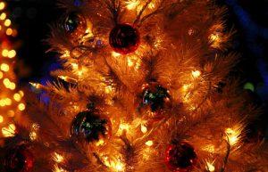 暖かそうなクリスマスの明かり