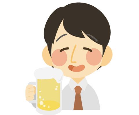プリン体の多いビールを飲んでいる人