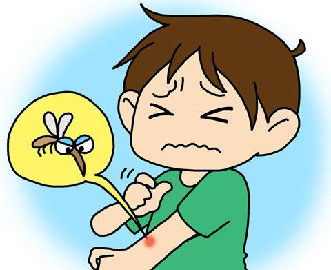 蚊に刺されてかゆい人