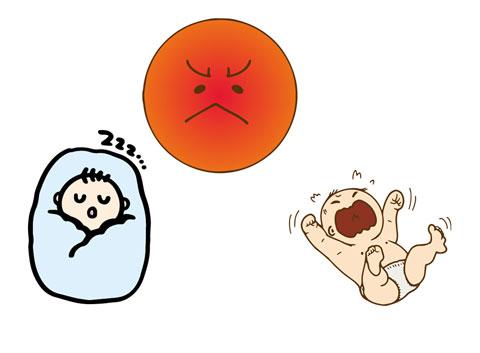パンツ一丁の赤ちゃんと毛布でくるまれている赤ちゃん