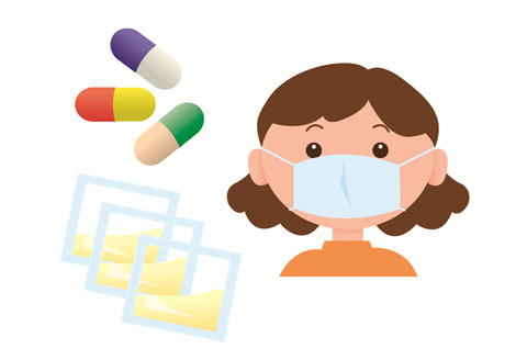 風邪を引いている人と薬