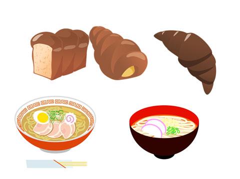 炭水化物の多い食べ物