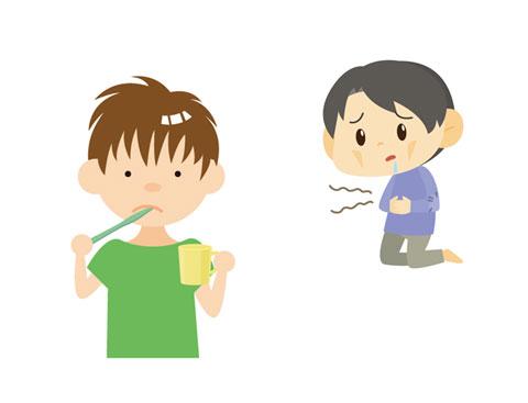 お腹がすいたのを紛らすために歯磨きをしている人