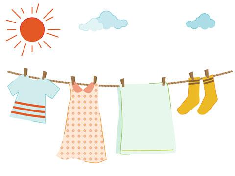 風通しの良いところに干してある洗濯物