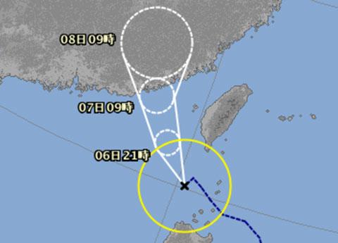 気象庁の台風進路予想図