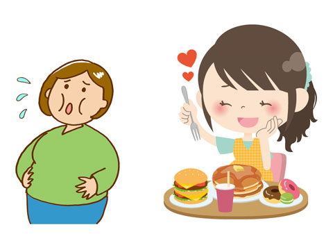 食べ過ぎで肥満になった人