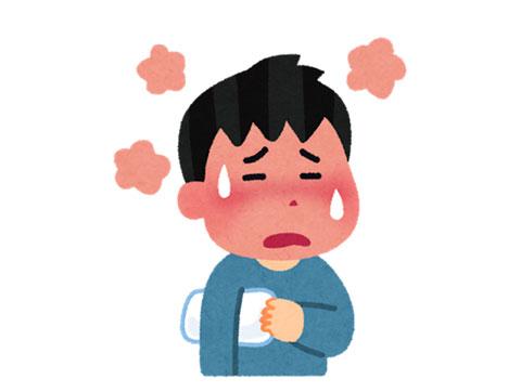 熱が出ている子供