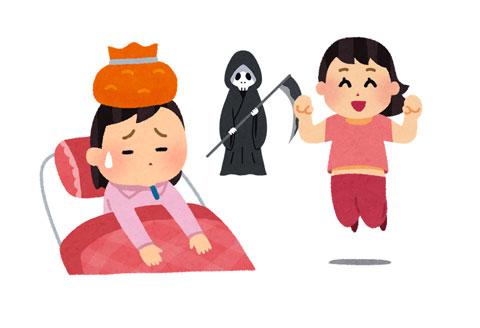 インフルエンザが原因で異常行動を起こしている子供