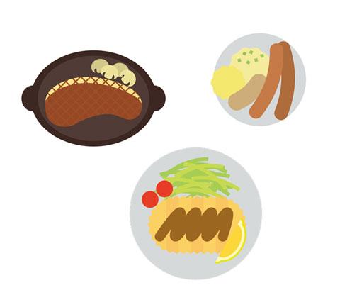 肉類の食べ物