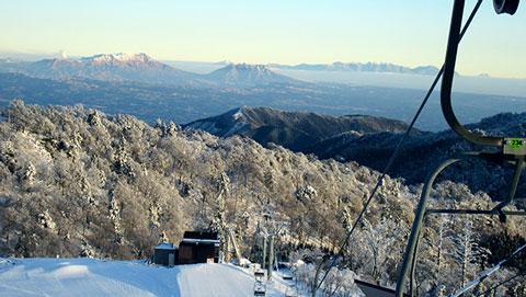五ヶ瀬ハイランドスキー場の頂上からの風景