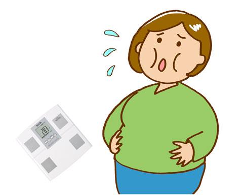 体脂肪計で計った体脂肪率が高くて焦っている人