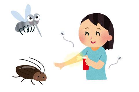 虫と防虫スプレー