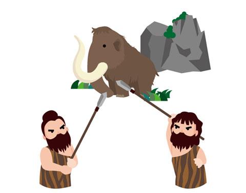 原始時代の狩り