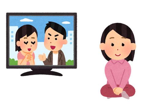 テレビドラマを見ている人