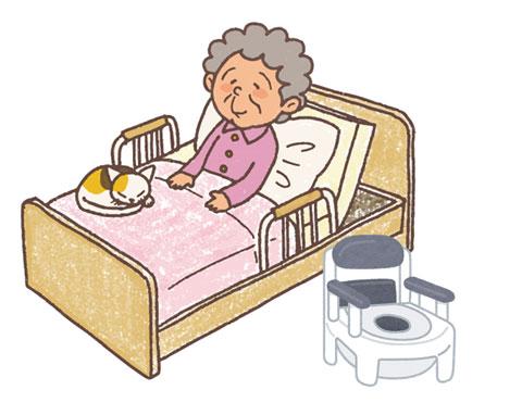 介護されている高齢者