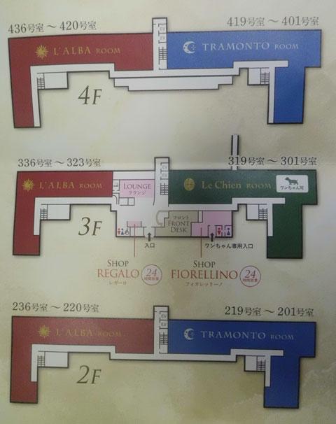 ラビスタ霧島ヒルズの全体図