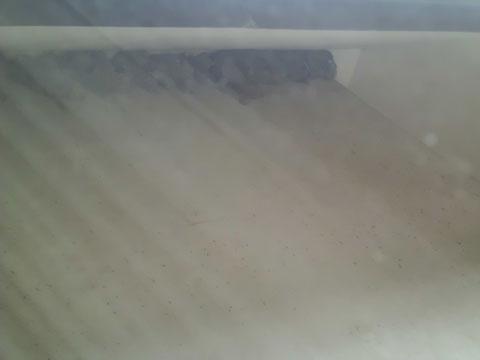 宇奈月温泉やまのはホテル別館の屋根のひさしの裏にはツバメの巣がびっしり
