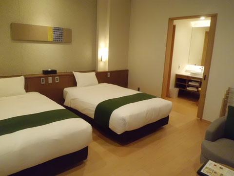 宇奈月温泉やまのはホテル別館のベッドルーム