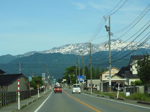 富山平野から見える立山連峰