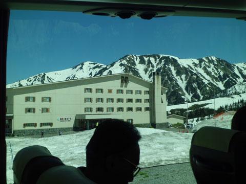 立山黒部アルペンルートの弥陀ヶ原付近の風景