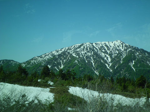 立山黒部アルペンルートのバスからの風景