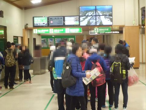 立山駅構内の風景