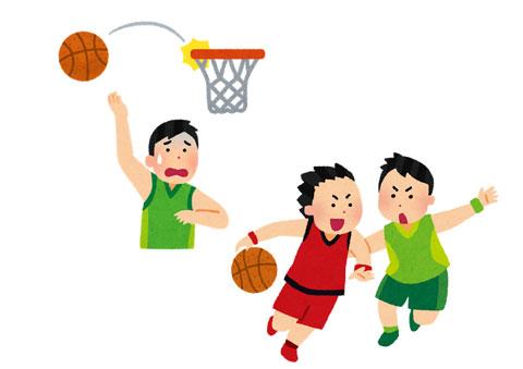 バスケットボールをしている選手