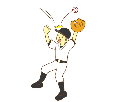 平凡なフライをエラーした野球選手