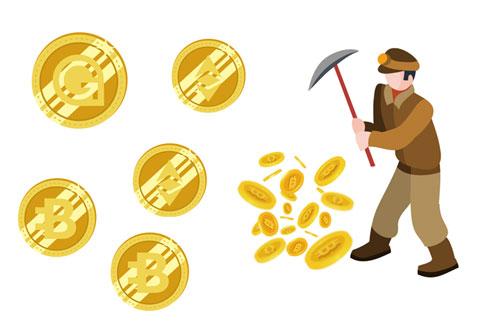 仮想通貨を発掘している人