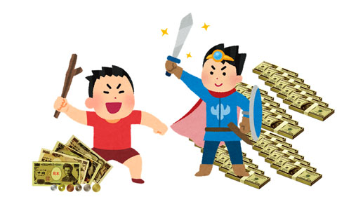 莫大な資金を持つ機関投資家に少額の資金で戦いを臨む一般投資家
