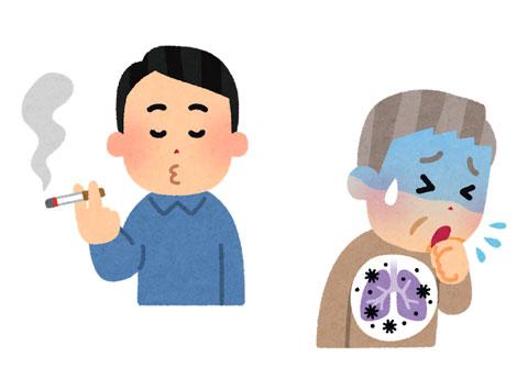 喫煙が原因で肺炎にかかった人