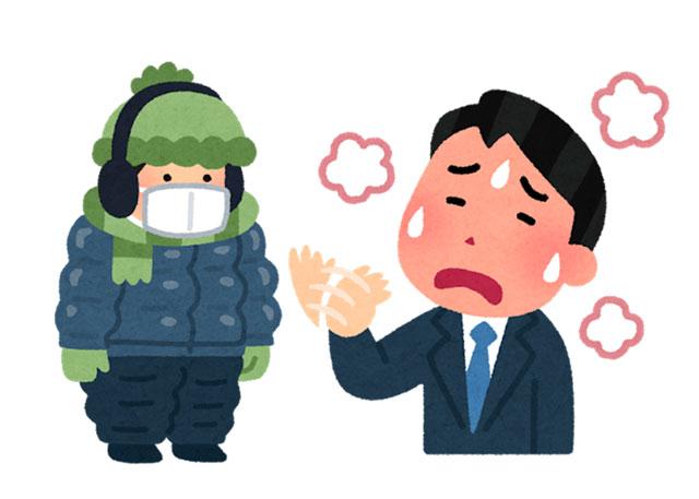 同じ状態なのに暑がっている人と寒がっている人