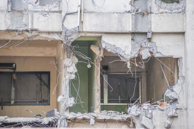戦闘で破壊されたビル