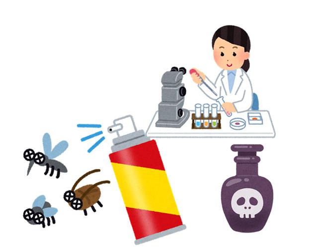 虫を殺す薬剤