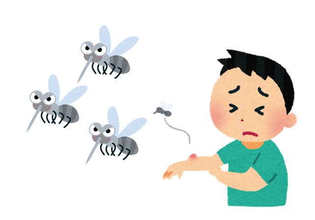 蚊に刺された人